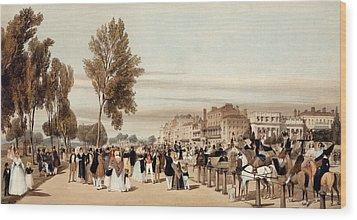 Hyde Park, Towards The Grosvenor Gate Wood Print by Thomas Shotter Boys