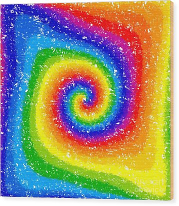 I Can See A Rainbow Wood Print by Chris Butler