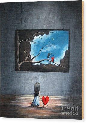 I Think We're Being Followed By Shawna Erback Wood Print by Shawna Erback