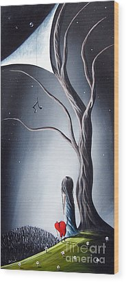 I Told You He Still Loves Us By Shawna Erback Wood Print by Shawna Erback