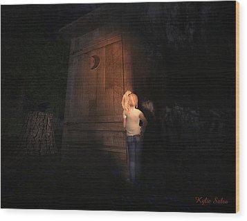 I Was Six Wood Print by Kylie Sabra