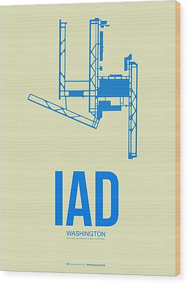 Iad Washington Airport Poster 1 Wood Print by Naxart Studio