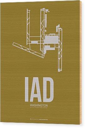 Iad Washington Airport Poster 3 Wood Print by Naxart Studio