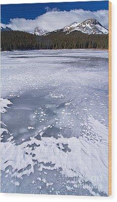 Ice And Snow Of Brainard Lake Wood Print by Benjamin Reed