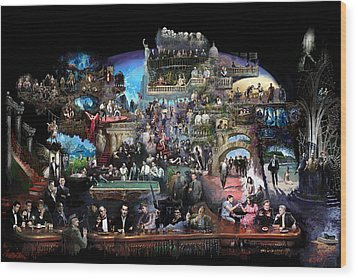 Icons Of History And Entertainment Wood Print by Ylli Haruni