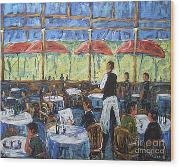 Impresionnist Cafe By Prankearts Wood Print by Richard T Pranke