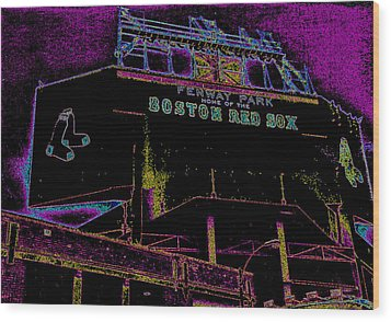 Impressionistic Fenway Park Wood Print by Gary Cain