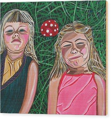 In The Garden Wood Print by Sandra Marie Adams