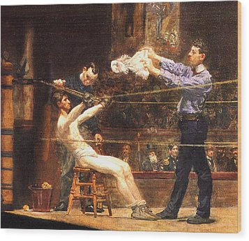 In The Mid Time Detail Wood Print by Thomas Eakins
