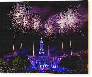Independence Eve In Denver Colorado Wood Print by Teri Virbickis