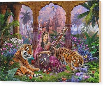 Indian Harmony Wood Print by Jan Patrik Krasny