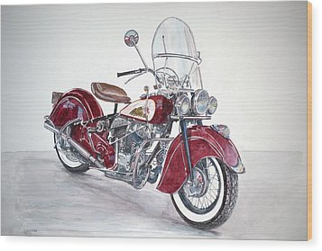 Indian Motorcycle Wood Print by Anthony Butera