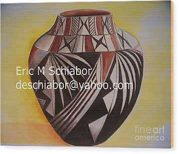 Indian Pottery Wood Print by Eric  Schiabor
