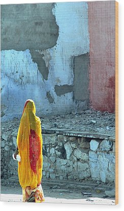 Indian Woman Wood Print by Arie Arik Chen