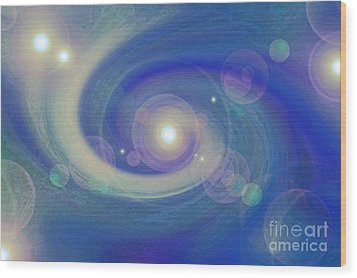 Infinity Blue Wood Print by First Star Art