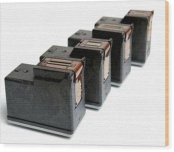 Ink Cartridges Wood Print by Sinisa Botas