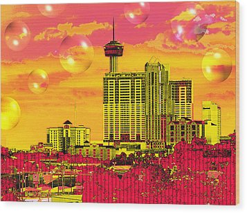Inner City - Day Dreams Wood Print by Wendy J St Christopher