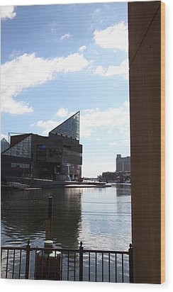 Inner Harbor At Baltimore Md - 12125 Wood Print by DC Photographer