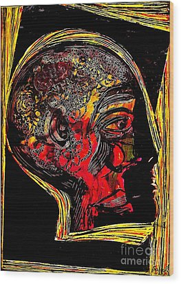 Inner Man Wood Print by Sarah Loft