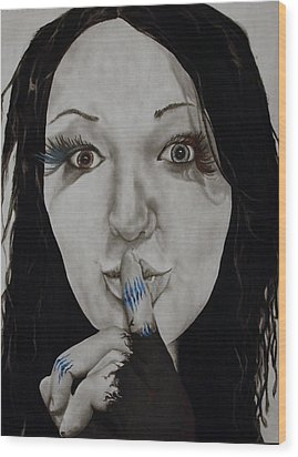 Inner Struggle Wood Print by Corina Bishop