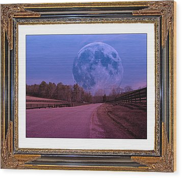 Inspiration In The Night Wood Print by Betsy Knapp