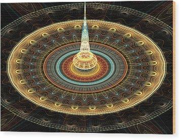 Intergalactic Transmission Wood Print by Svetlana Nikolova