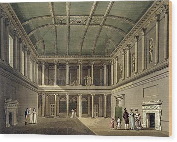 Interior Of Concert Room, From Bath Wood Print by John Claude Nattes