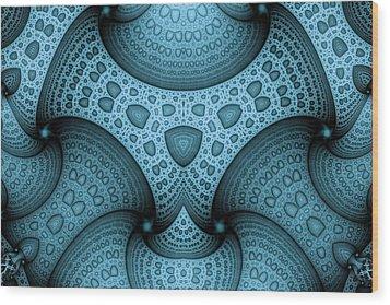 Interlocking Patterns Wood Print by Mark Eggleston