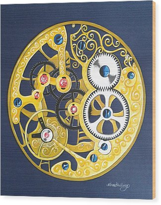 Internal Mechanisms Wood Print by Nina Shilling