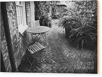 Into The Courtyard Wood Print by John Rizzuto