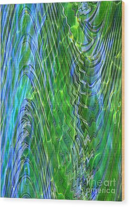 Iridescence Wood Print by Carol Groenen