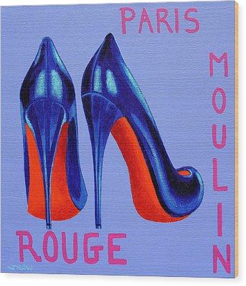 Irish Burlesque Shoes Wood Print by John  Nolan