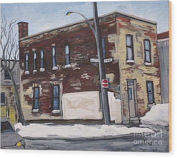 Island And St. Patrick Pointe St Charles Wood Print by Reb Frost