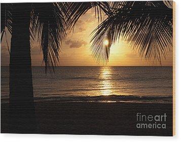 Island Sunset Wood Print by Charles Dobbs