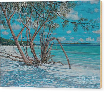 Island Time Wood Print by Danielle  Perry