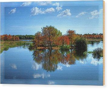 Islands In The Sun Wood Print by Debra and Dave Vanderlaan