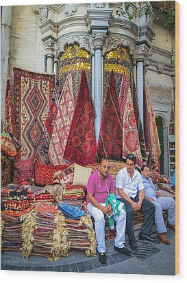 Istanbul Rug Merchants Wood Print by Ross Henton