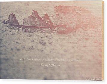 It's Death Again Wood Print by Waleed Sherif
