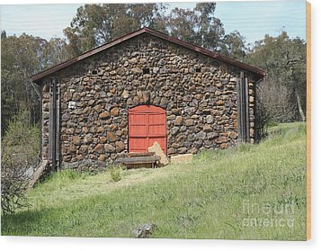 Jack London Stallion Barn 5d22101 Wood Print by Wingsdomain Art and Photography