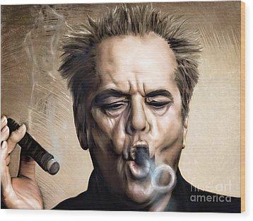 Jack Nicholson Wood Print by Andrzej Szczerski