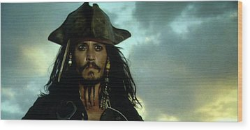 Jack Sparrow Wood Print by Jack Hood