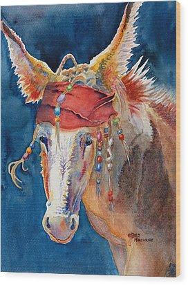 Jack Burro -  Donkey Wood Print by Deb  Harclerode
