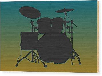 Jacksonville Jaguars Drum Set Wood Print by Joe Hamilton