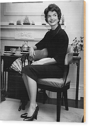 Jacqueline Kennedy Sitting Pretty Wood Print by Retro Images Archive