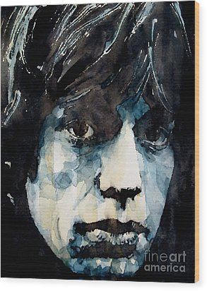 Jagger No3 Wood Print by Paul Lovering