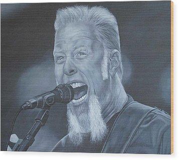 James Hetfield Metallica Wood Print by David Dunne