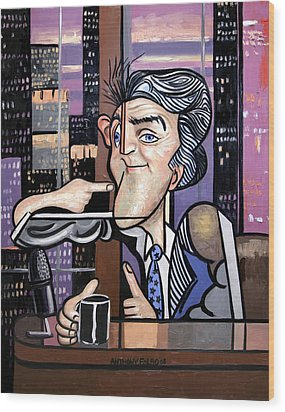 Jay Leno You Been Cubed Wood Print by Anthony Falbo