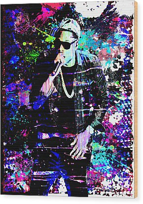Jay Z Original Painting Art Print Wood Print by Ryan Rock Artist