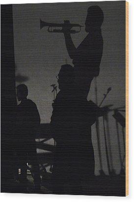 Jazz Shadows Wood Print by Bill Mock