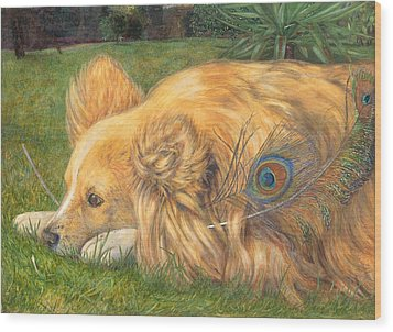 Jealous Jessie Wood Print by Emily Hunt and William Holman Hunt